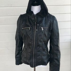 Lock & Love Faux Leather Motorcycle Jacket